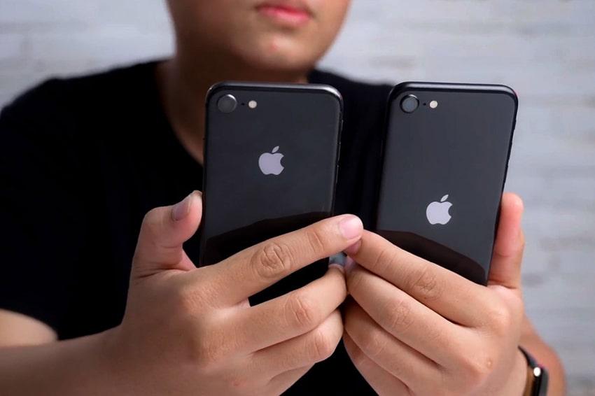 Cách đặt để táo là dấu hiệu nhận biết giữa iPhone SE 2020 với iPhone 8