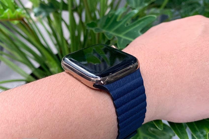 Dây đeo Leather Loop giúp thoát mồ hôi ở cổ tay tốt hơn