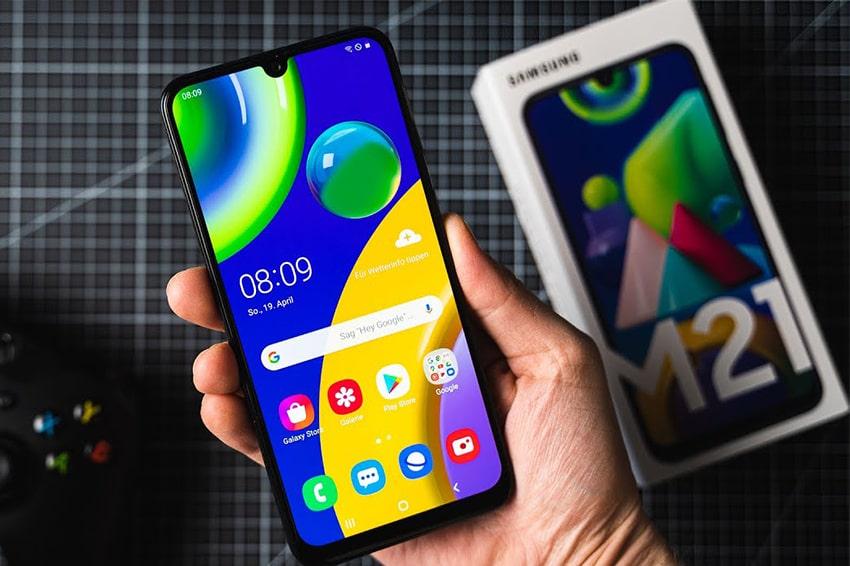 Samsung Galaxy M21 (4GB|64GB) Chính Hãng diem nhan galaxy m21 viendidong