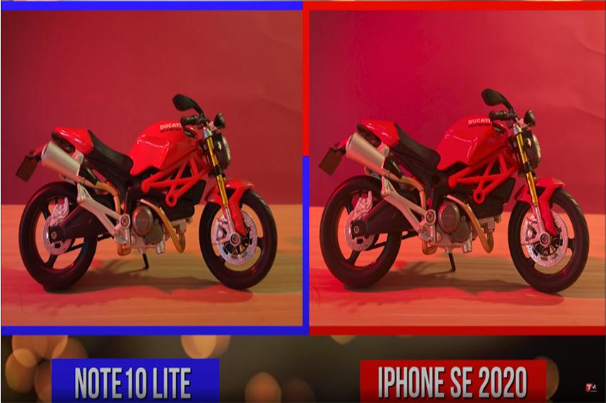 Hình ảnh chụp thực tế từ hai smartphone