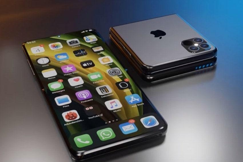 Ý tưởng thổi bùng xu hướng gập với mẫu iPhone 12 Flip chắc chắn làm iFan chết ngất iPhone 12 flip man hinh gap viendidong