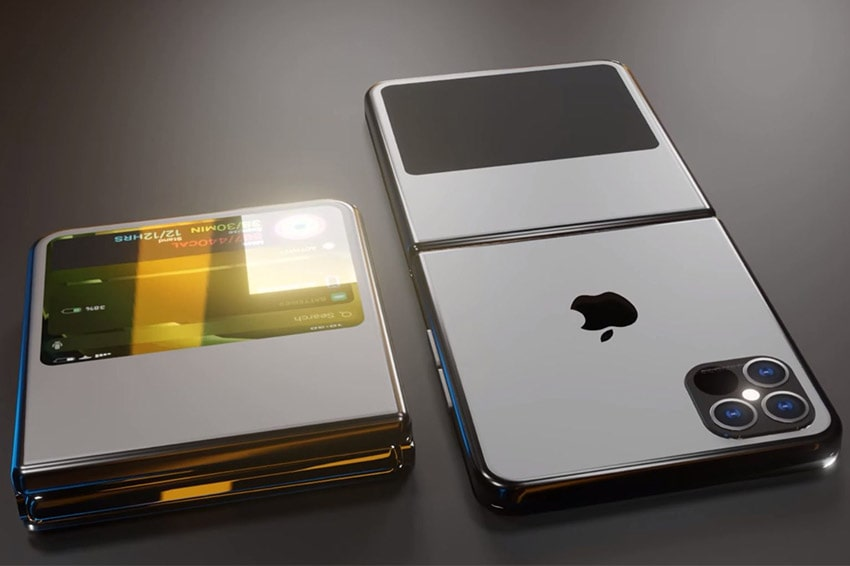 Màn hình phụ trên iPhone Z Flip tưởng tượng