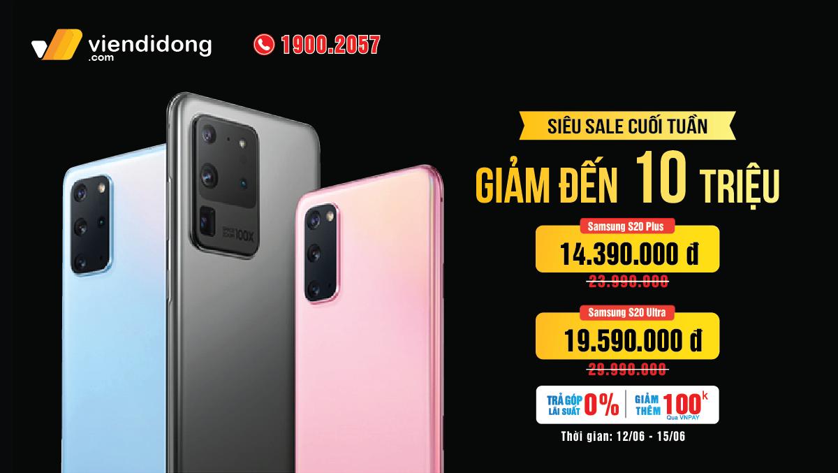 NHANH CHÂN MUA NGAY Samsung Galaxy S20 Plus, S20 Ultra siêu giảm giá sau 3 tháng ra mắt