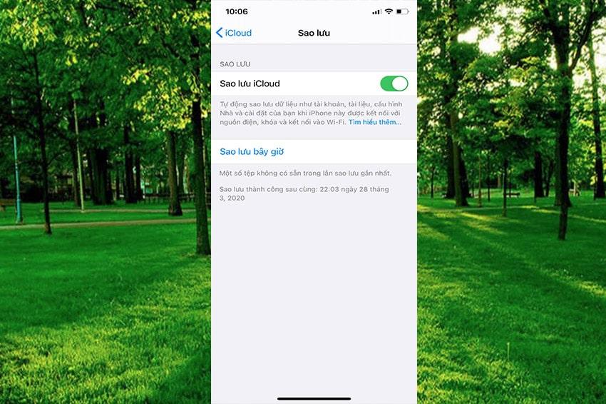 Cách sao lưu dữ liệu trên iPhone với iCloud -Bước 2