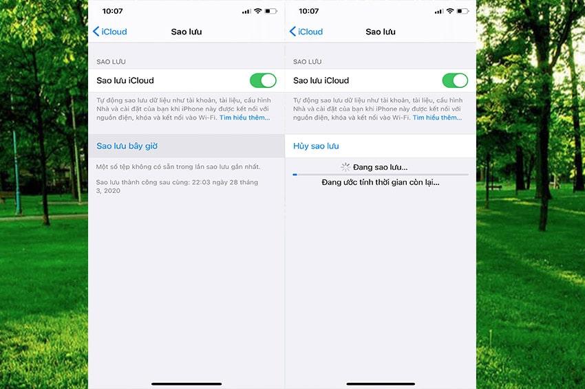 Cách sao lưu dữ liệu trên iPhone với iCloud -Bước 3