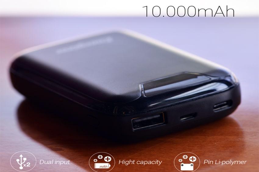 Pin sạc dự phòng Energizer 10000mAh - UE10042 thiet ke pin sac du phong energizer 10000 mah viendidong