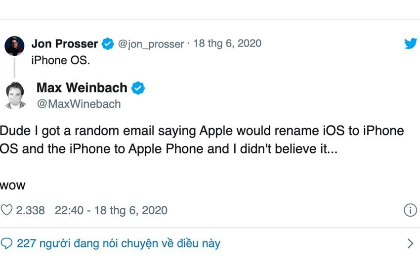 Nội dung bức thư của kỹ sư Max Weinbach được Jon Prosser chia sẻ lại trên Twitter