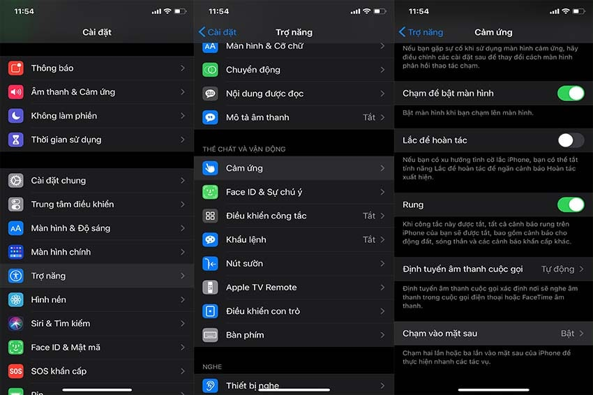 tính năng gõ mặt lưng trên iOS 14 - Bước 1