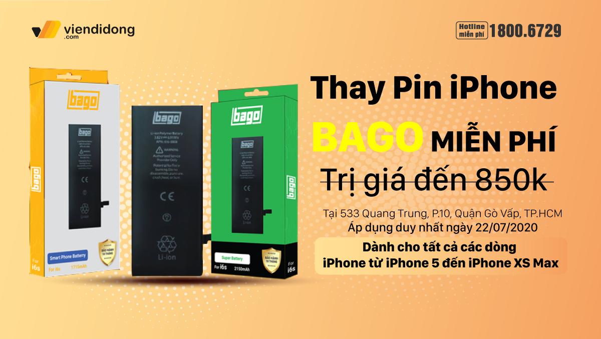 Pin bị chai, pin bị phồng mang ngay đến Viện Di Động thay MIỄN PHÍ nhân ngày khai trương cửa hàng mới 533 Quang Trung