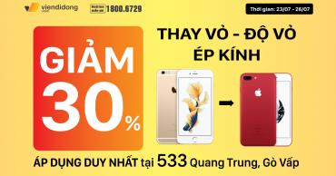 Cửa hàng 533 Quang Trung, GIẢM NGAY 30% khi Thay vỏ – Độ vỏ và Ép kính