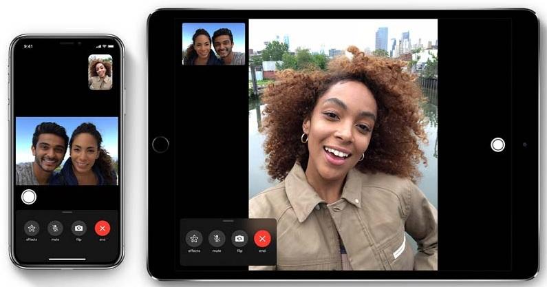 Hướng dẫn sử dụng iPhone 8 và 8 Plus cho người mới: Giao diện ghi lại cuộc gọi Facetime trên iPhone 8 và 8 Plus
