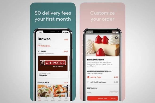 App đặt thức ăn trong top ứng dụng hay cho iPhone