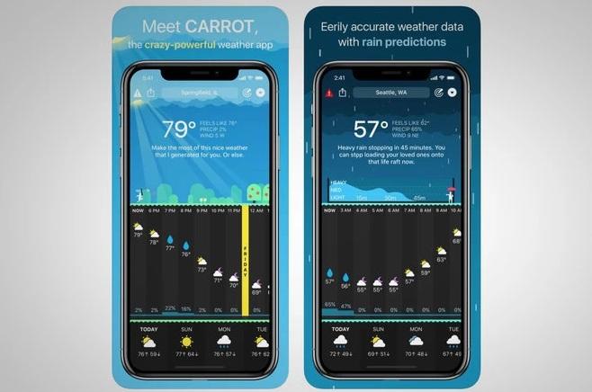 App về thời tiết trong top ứng dụng hay cho iPhone 2020