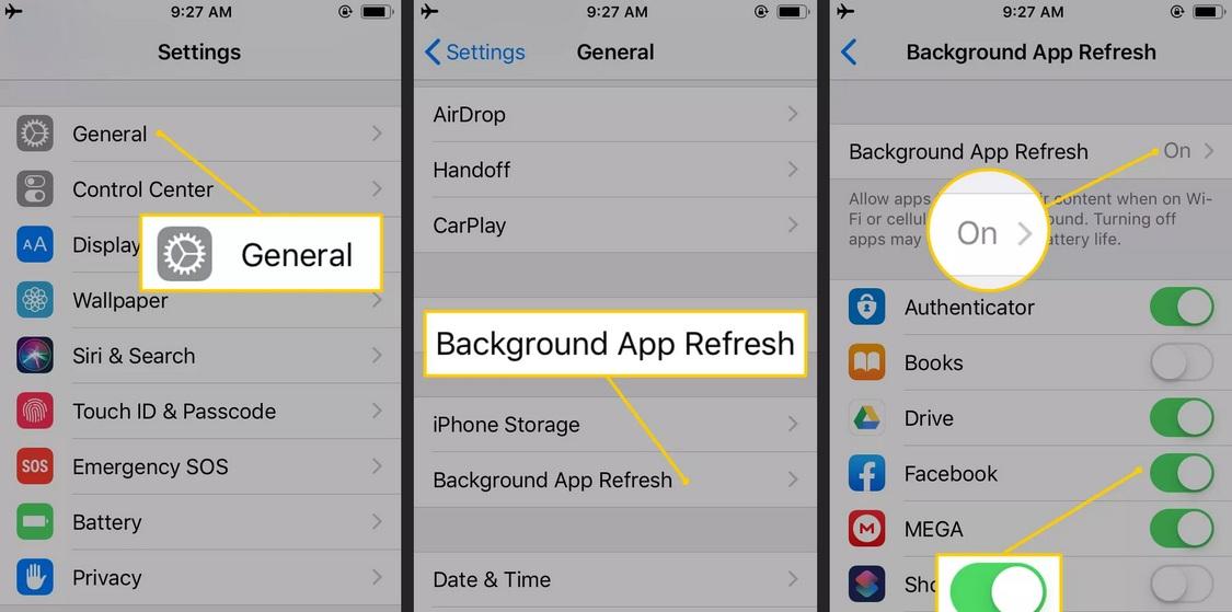 cách tiết kiệm pin iPhone bằng việc tắt ứng dụng chạy nền