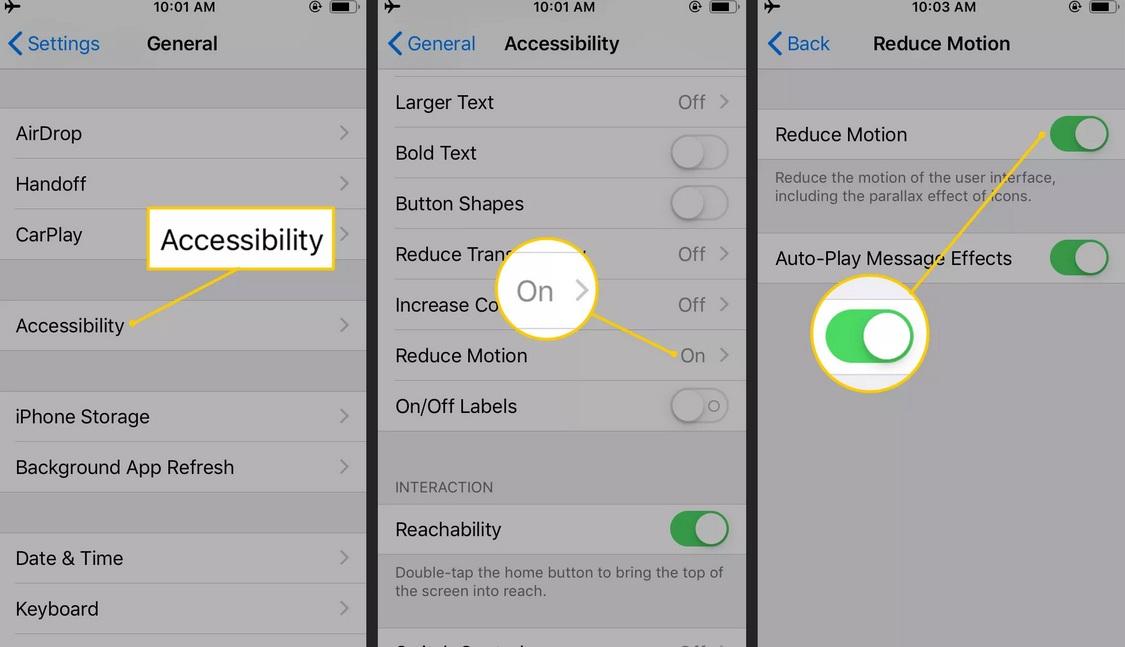 Cách tiết kiệm pin iPhone bằng việc dừng hiển thị hoạt dạng hình