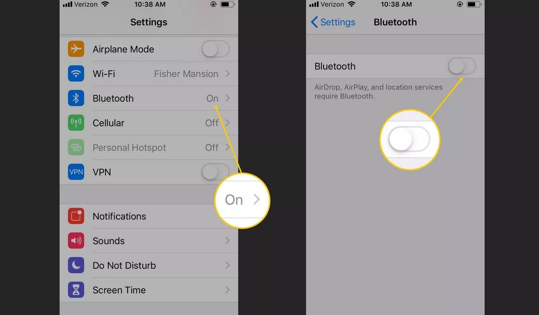 Cách tiết kiệm pin iPhone tắt Bluetooth