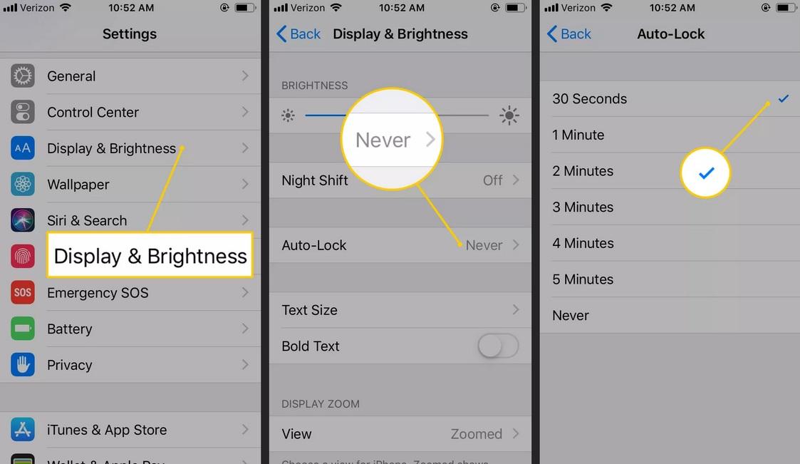 Cách tiết kiệm pin iPhone bằng việc cài đặt tự động khóa máy sớm hơn