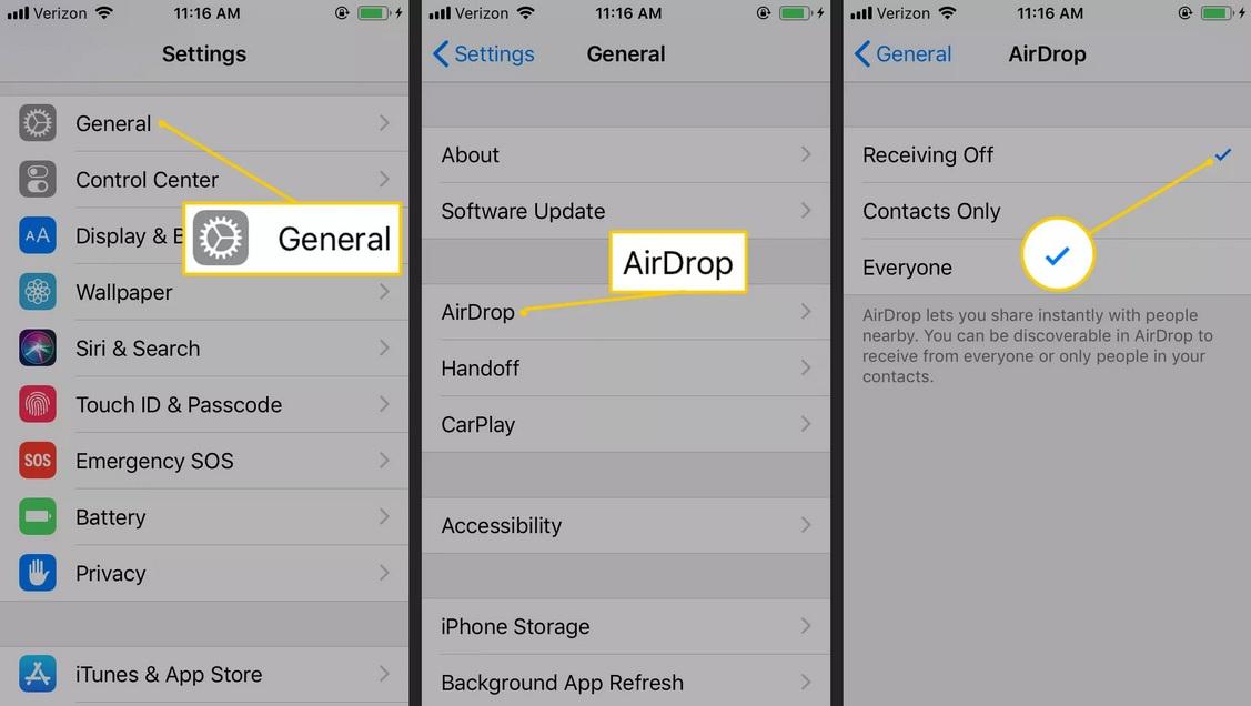 Tiết kiệm pin iPhone bằng cách tắt airdrop