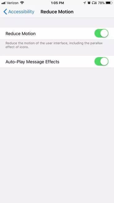 Cải thiện pin iPhone bằng cách vô hiệu hóa hiệu ứng hình ảnh