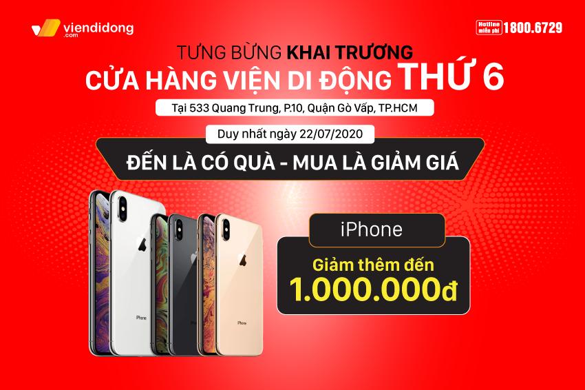 Tưng bừng khai trương cửa hàng Viện Di Động thứ 6: Cơ hội mua iPhone giảm ngay 1 triệu, sở hữu iPhone 7 chỉ với 990k, phụ kiện chỉ từ 99k 850x566 Banner khai trương 3
