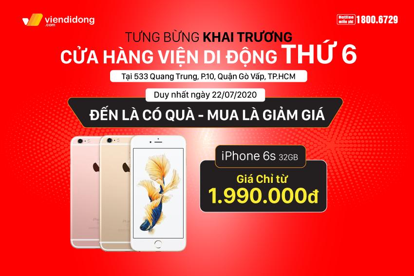 Tưng bừng khai trương cửa hàng Viện Di Động thứ 6: Cơ hội mua iPhone giảm ngay 1 triệu, sở hữu iPhone 7 chỉ với 990k, phụ kiện chỉ từ 99k 850x566 Banner khai trương