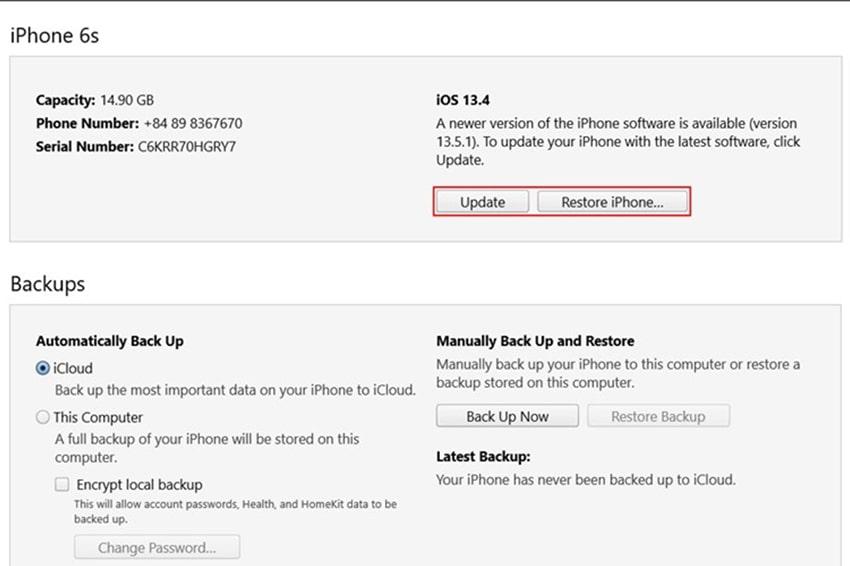 Cách hạ cấp iOS 14 Beta xuống iOS 13.5.1 - bước 4