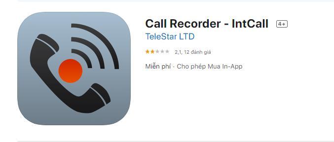 Ứng dụng ghi âm Call Recorder-IntCall