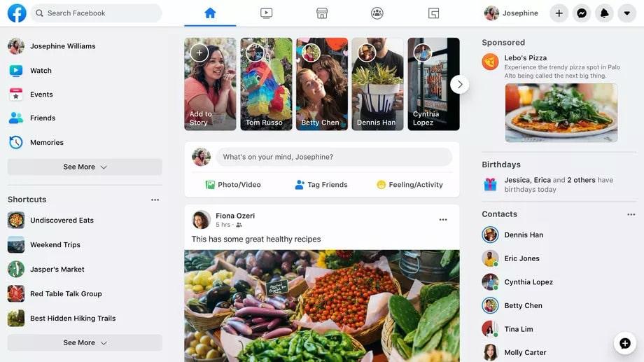facebook thông báo thay giao diện mới vào tháng 9 tới