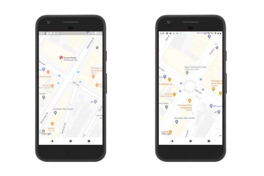 Google Maps hiển thị chi tiết hơn khi di chuyển