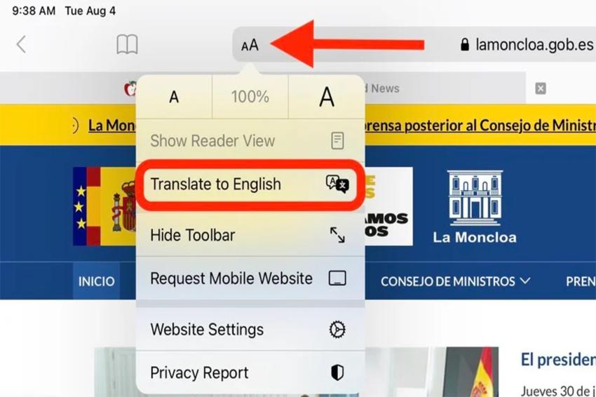 iOS 14 Cách sử dụng trang dịch vụ tính năng của Safari (1)