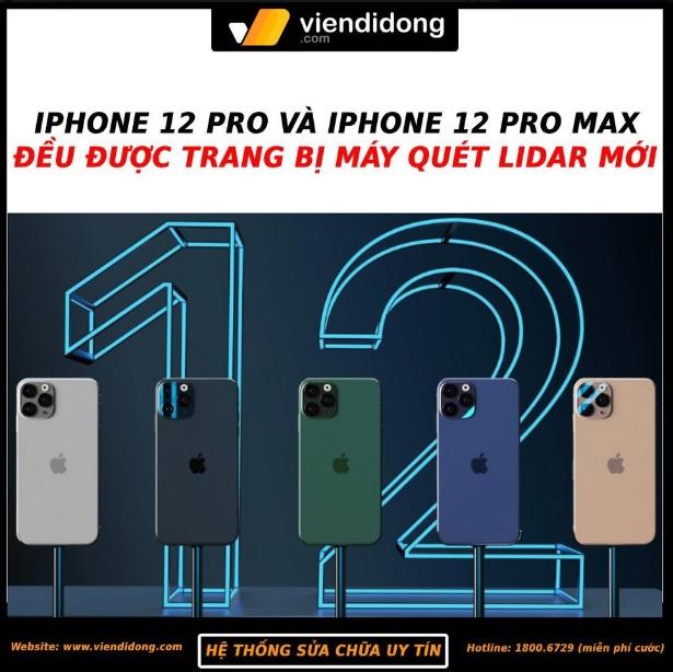 Tin đồn iPhone 12 pro và pro max có máy quét lidar mới