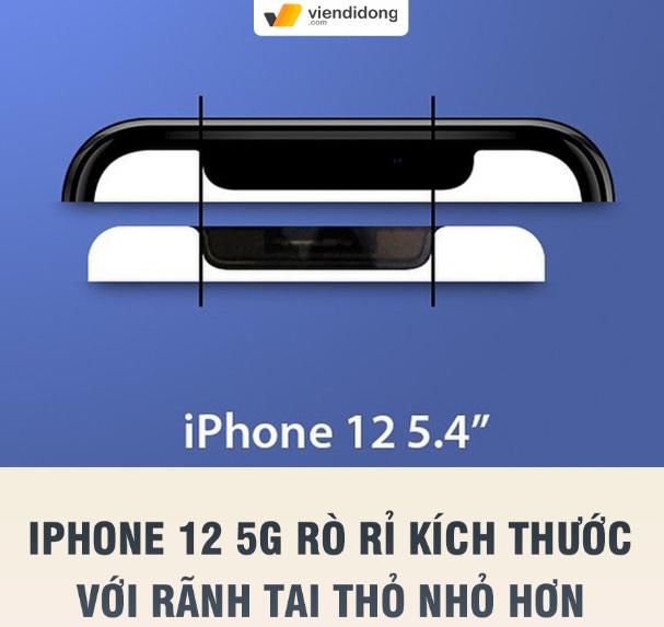 tin đồn kích thước iPhone 12 và tai thỏ