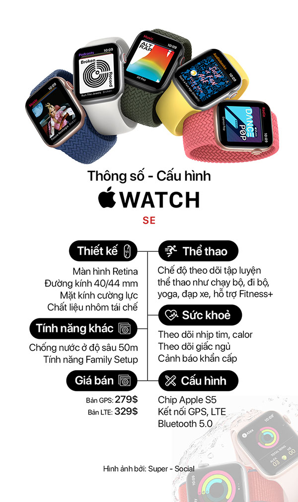 Cấu hình Apple watch SE