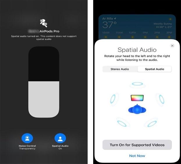 hạ cấp từ iOS 14 xuống iOS 13 Âm thanh không gian trên Airpods Pro