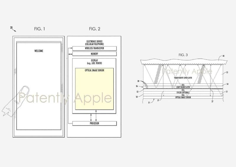 Apple được cấp bằng sáng chế mới cho cảm biến vân tay Touch ID