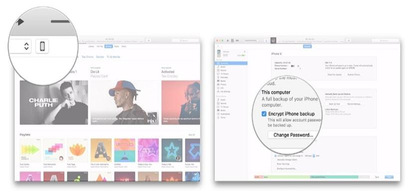 Cách chuyển dữ liệu iPhone bằng iTunes