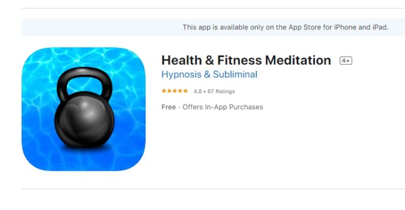 Health & Fitness Meditation (Ứng dụng giúp giảm cân)