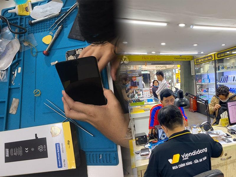 Thu pin iPhone cũ đổi pin Bago mới chính hãng, tiết kiệm ngay 50% giá trị tại Viện Di Động