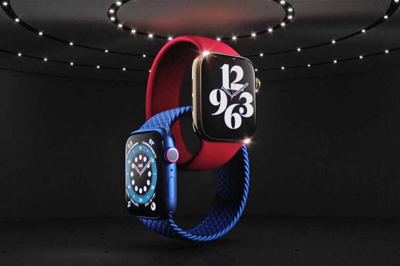 Apple Watch Series 3 đỏ và xanh