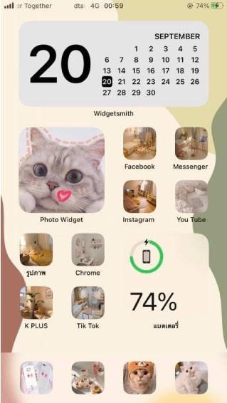 hình ảnh iFan thiết kếtrên tính năng Widget
