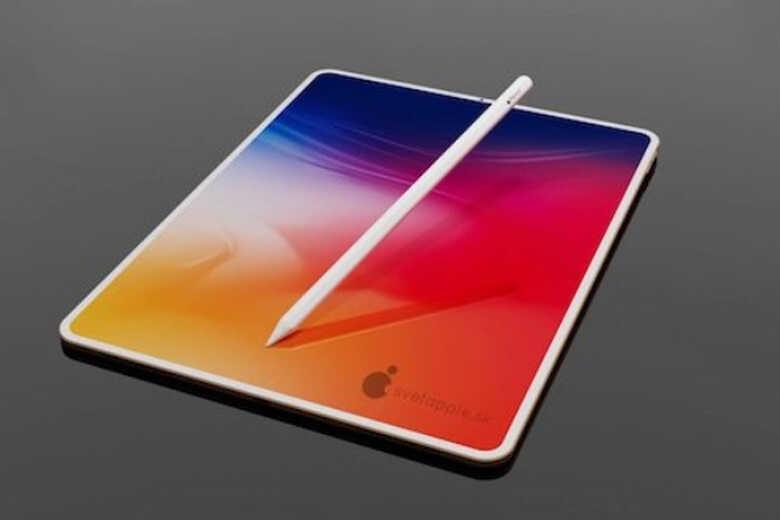 iPad Air 4 bút trên mặt kính