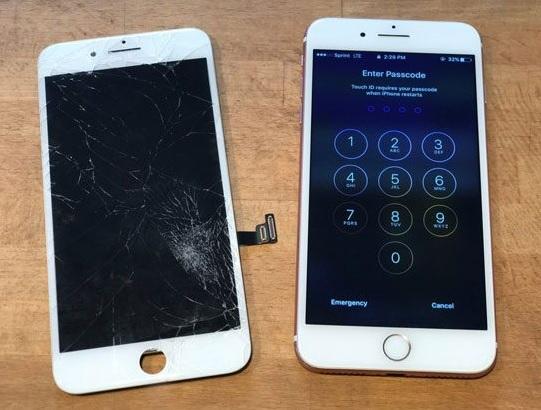 Sau khi thay màn hình iPhone 8 Plus màu trắng cho khách