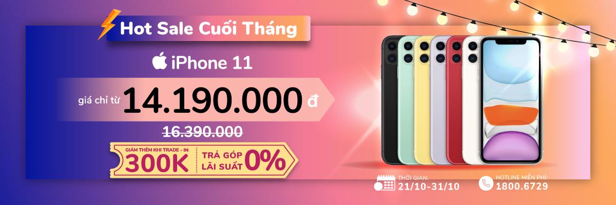 Giảm sốc cuối tháng, iPhone 11 giá chỉ từ 14.190.000đ