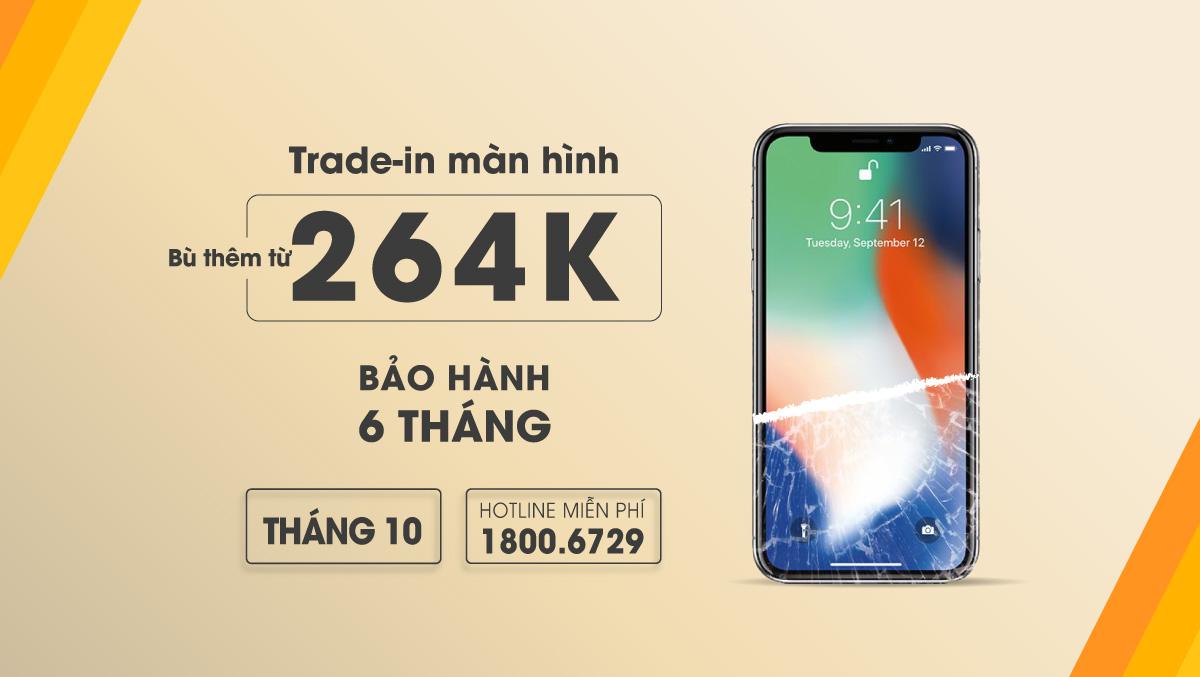 Dịch vụ Trade-in Thu cũ đổi mới màn hình iPhone hấp dẫn tại Viện Di Động, chỉ cần bù thêm từ 264k