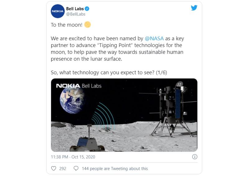 bộ phận nghiên cứu của nokia đăng tin trên Twitter