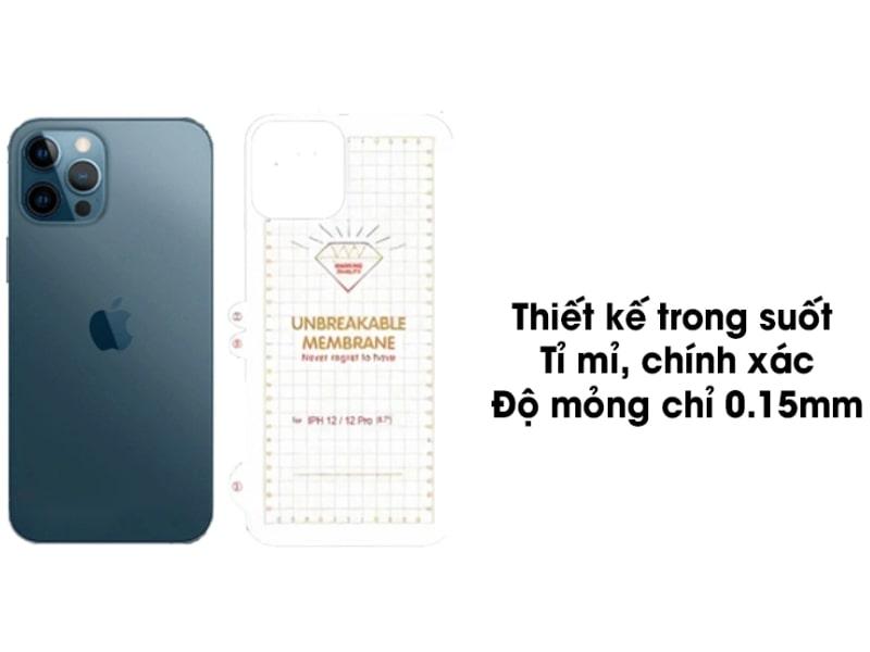 Miếng dán PPF iPhone 12 Full mặt sau - tại viendidong