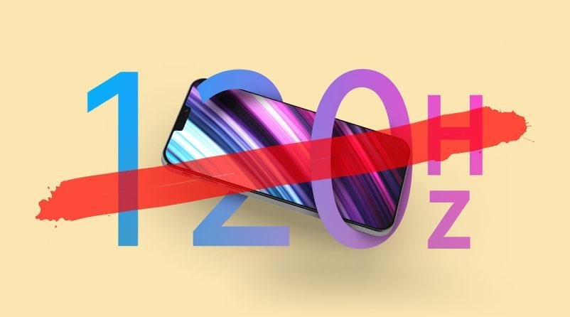 Phone 12 series có được trang bị màn hình Promotion 120HZ
