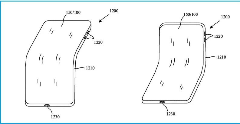 Rò rỉ hình ảnh bằng sáng chế xuất hiện iPhone màn hình gập