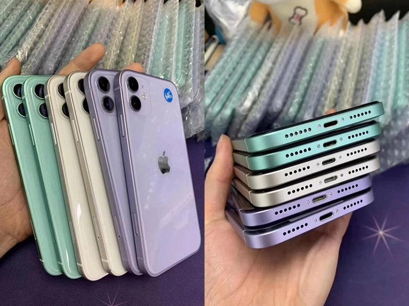 Độ vỏ iPhone 11 lên iPhone 12