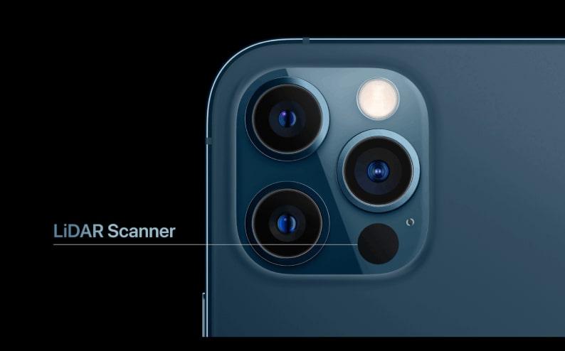 iphone 12 pro có thêm máy quét LiDAR